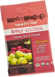 Matt's Munchies Apple-licious Premium Fruit Snack 1 Ounce Packs (12 Pack)