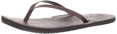 Reef Womens Reef Leather Uptown Sandal Brown/Coral Size 6