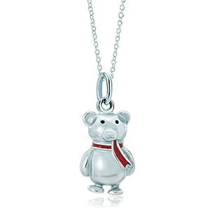 Pugster Silver Cute Bear Animal Link Charm Charms Bracelet & Pendant Necklace