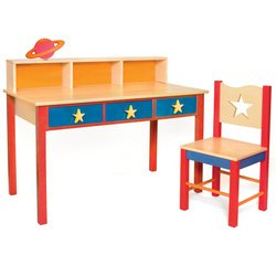 Buy Low Price Comfortable Star Rocket Computer Desk & Chair Set (B00195VDGU)