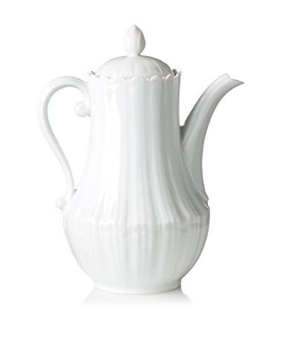 Giraud Limoges Found Scalloped Shell Tea Pot, White