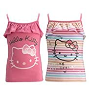 2 Pack Hello Kitty Pure Cotton Vest Tops