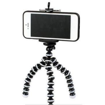 iphone用三脚ホルダー デジカメスタンド スマホ対応 モバイル iphone5 アイフォン5 クネクネ三脚の商品画像