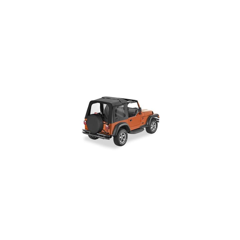 Bestop 51719 35 Sunrider Soft Top BLACK DIAMOND For 2003 06 Jeep Wrangler  Doors Not included