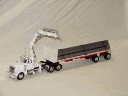 Northern Tool & Equipment New Ray Die-Cast Truck Replica - Peterbilt 379 Flatbed Trailer with I-Beam, 1:32 Scale, Model# 14343 at Sears.com