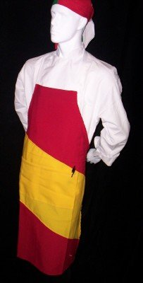 Chefskin Country Apron Deluxe Canada Italia Germany Austria Japan Spain