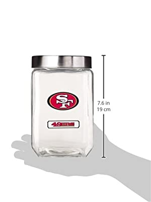 NFL San Francisco 49Ers Glass Canister