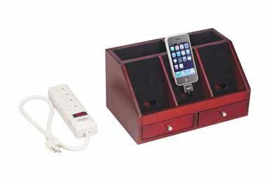"Great Features Of Living Accents Charging Caddy with Powerstrip 6"" x 11"" x 7"""