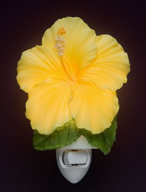 Yellow Hibiscus Night Light - Ibis & Orchid Flowers of Light Collection