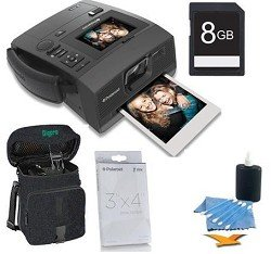 Polaroid Z340 Instant Digital Camera with ZINK (Zero Ink) Printing Technology BUNDLE with Paper, 8GB SD Card, Mini Tripod, Case, and More