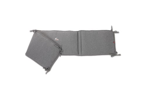 Baby Boum 36 x 180cm Appliqued Padded Cot Bed Bumper from The Sprint Collection (Grey)