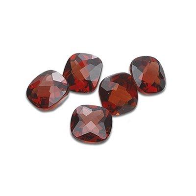 8.85 Cts of 7x7 mm Cushion Checker Board Matching Loose Garnet (5 pcs set) Gemstones