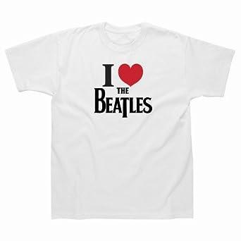 I Love the Beatles T/Shirt-White-S