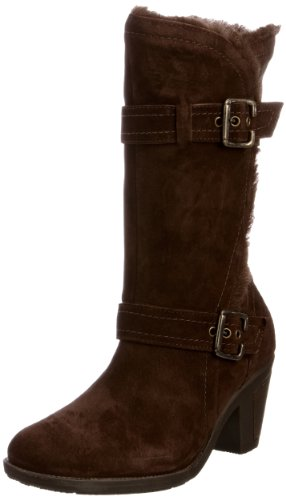 Hush Puppies Women's Wiltshire Dark Brown Suede Fur Trimmed Boots H2612432D 8 UK