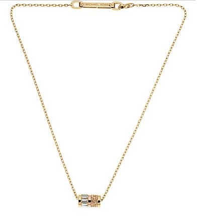 MICHAEL Michael Kors Michael Kors Goldtone Barrel Pendant Necklace MKJ1902