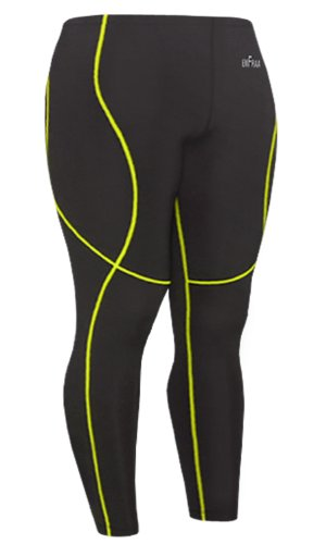 Emfraa Skin Tight Compression Pants Womens Mens Leggings Running Base Layer Black S ~ 2XL