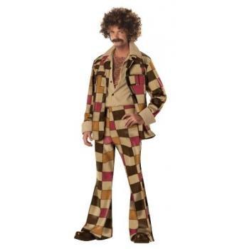 California Costumes Men's Disco Sleaze Ball Costume,Brown,Large
