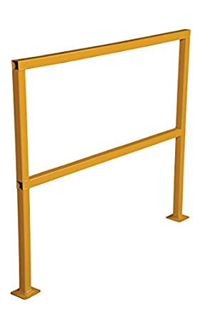 """Vestil SQ-48 Square Safety Rigid Handrail without Toeboard, Steel, 48"""" Length, 42"""" Height"""