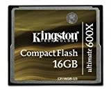 Kingston Technology CF/16GB-U3 - Kingston CompactFlash Ultimate (16GB) Memory Card 600X with Recovery Software