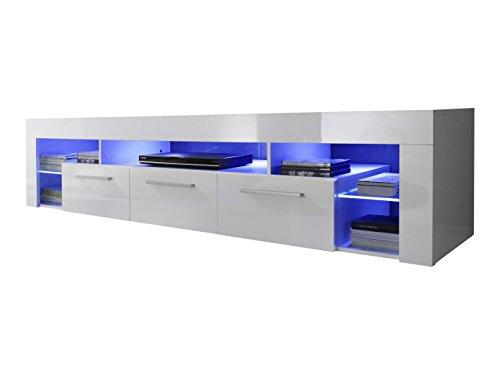 Maisonnerie 1475-852-01 Score Meuble TV Armoire Blanc Ultrabrillant LxHxP 200x44x44 cm