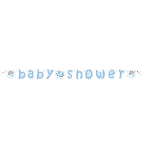 5.25ft Blue Elephant Boy Baby Shower Banner (Elephant Baby Shower Banner compare prices)