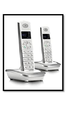 MOTOROLA CORDLESS TELEPHONE D502 I TWIN WHITE SILVER