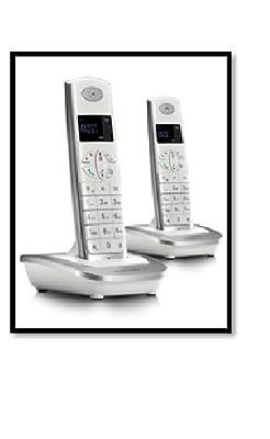 MOTOROLA CORDLESS TELEPHONE D502 I TWIN WHITE SILVER