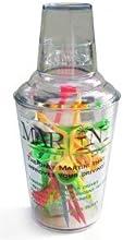 Martini Golf Regular Size Plastic Shaker w 24 Martini Golf Tees