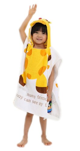 Giraffe Yellow Ultra-absorbent Kids Hooded Bath Towel Infant Hooded Washcloth