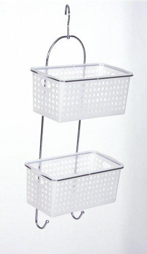 Set di mensole per doccia - 2 CESTINI removibili per sistemazione ottimale prodotti