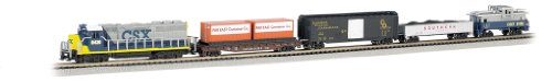 Bachmann Industries Freightmaster Ready To Run 60 Piece Electric Train Set Train Car N Scale (Model Trains N Scale compare prices)