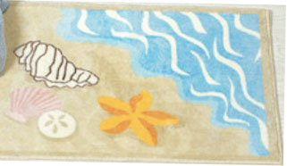 Sea Shell Ocean Beach Bathmat Rug Starfish Sand Dollar front-947776