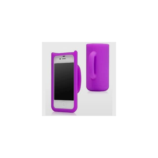 HJX Purple 3D Mug Cup Stand Holder Design Soft Silicone Case Cover Funny for the Apple iPhone 5 5G 5th + Gift 1pcs Insect Mosquito Repellent Wrist Bands bracelet