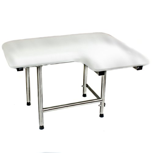 Csi Bathware Sea-Sd2821-Lh-Pa Ada Bathroom Shower Bath Seat, Folding, Wall-Mounted, Left Hand, Padded Seat, 28-Inch By 21-Inch front-40468