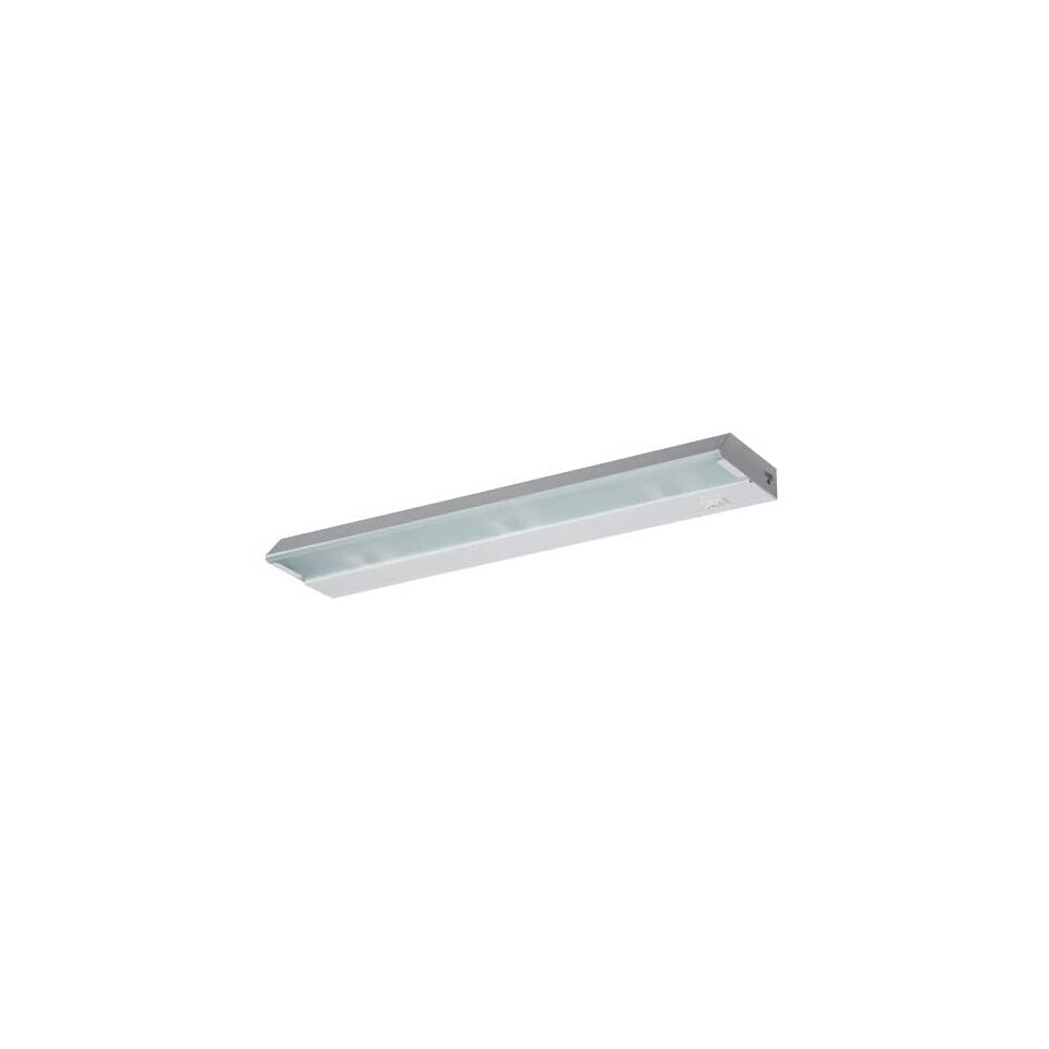 Lighting by AFX HXL318WH Low Profile 3 18 Watt Xenon Low Voltage Linkable Light Fixture, White with Frosted Glass Diffuser