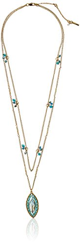 Kenneth Cole New York Teal Woven Faceted Bead Long Pendant Necklace, 28''+ 3'' Extender