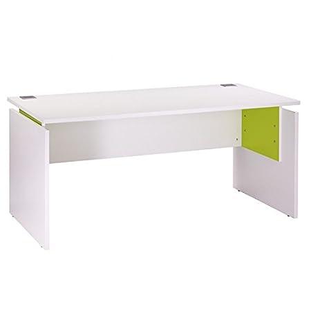 Simmob - Bureau Ineo 160 x 80 cm Blanc Anis Réglable en Hauteur