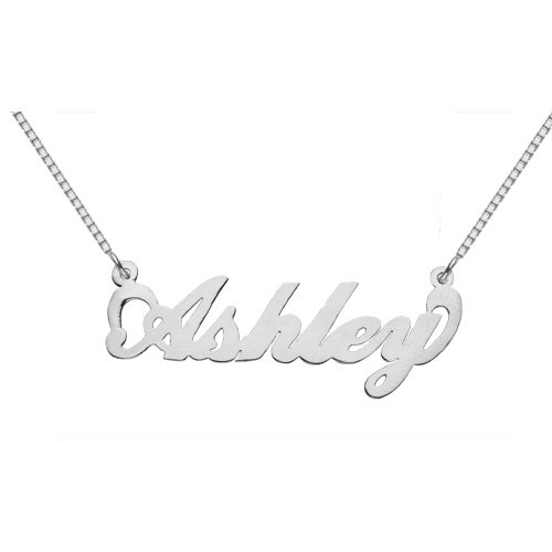 Sterling Silver Custom Name Pendant, Ashley Design