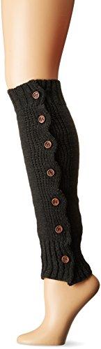 Steve Madden Women's Button Side Rib Leg Warmer, Charcoal, 1-Size (Steve Madden Rain Boots For Women compare prices)