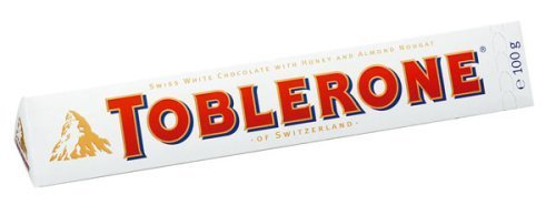 Toblerone White Chocolate ( 3.5 oz ) by Toblerone