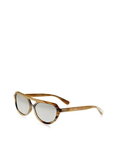 Bertha Sunglasses Brittany Genuine Handmade Horn Sunglasses, Honey & Black