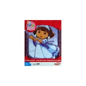 Dora the Explorer Woodboard Puzzle- Dora in a Dress 9 Pieces Puzzle