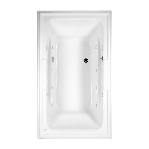 American Standard 2742.018WC.020 Town Square 6-Feet by 42-Inch Whirlpool Bath Tub with Everclean Hydro Massage System I, White