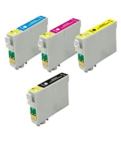 123Getink Remanufactured Ink Cartridges Replacement for Epson T200XL (Black, Cyan, Magenta, Yellow, 4-Pack)