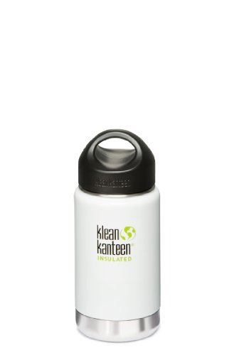 Klean Kanteen Wide Mouth Insulated Loop Cap (12-Ounce, Glacier White)