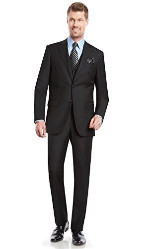 Mens 2 button 3 piece Modern Fit Blazer/Jacket Flat-Front Pants by Taheri