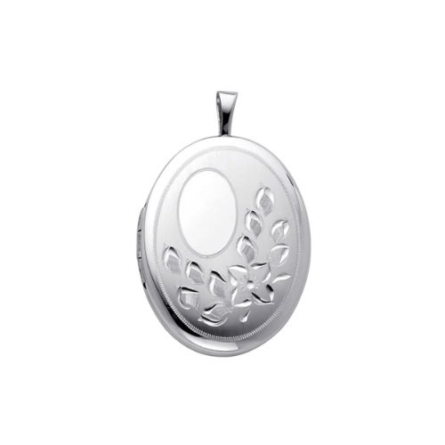 Sterling Silver Engraved Locket Pendant (1