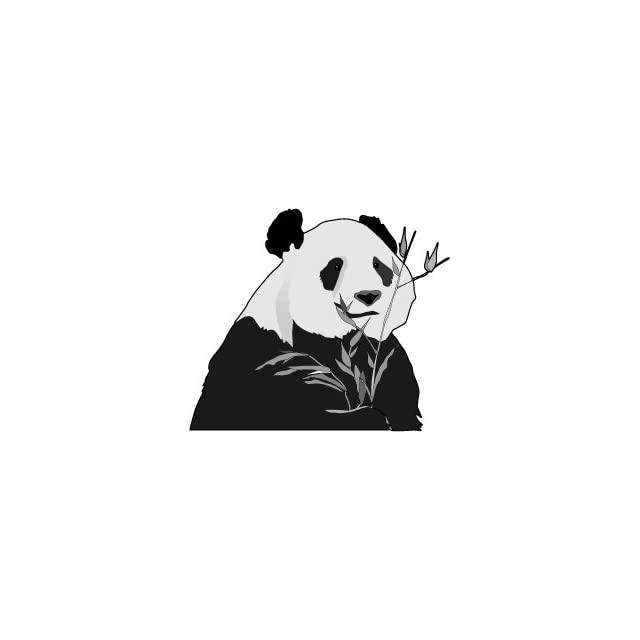 6 wide Panda bear eating bamboo. Engineer Grade reflective printed vinyl decal sticker for any smooth surface such as windows bumpers laptops or any smooth surface.