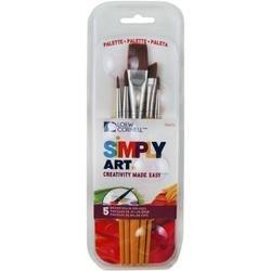 Bulk Buy: Loew-Cornell (3-Pack) Simply Art Paintbrush & Palette Pack 5/Pkg 1024273