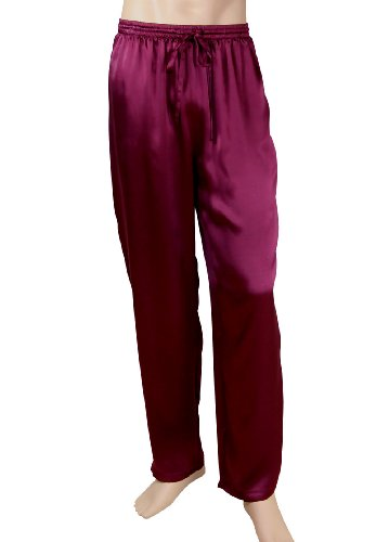 Men's Silk Pajama Bottoms Lounge Pants